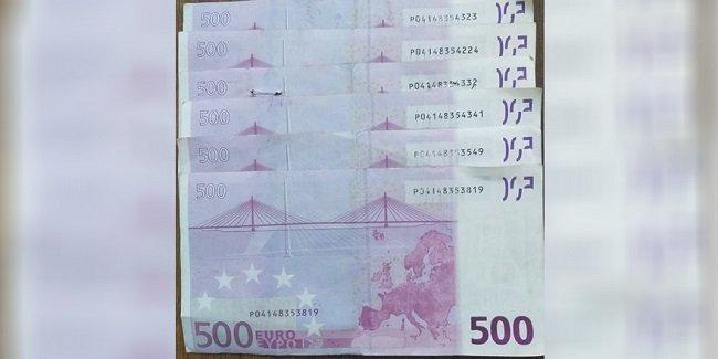 Арест за хранение фальшивых банкнот 500 евро